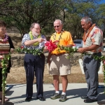Blessing ceremony at Bryan Clay exercise park